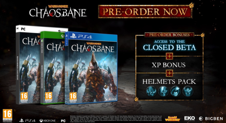 "Warhammer: Chaosbane"" beta, release date and preorder"