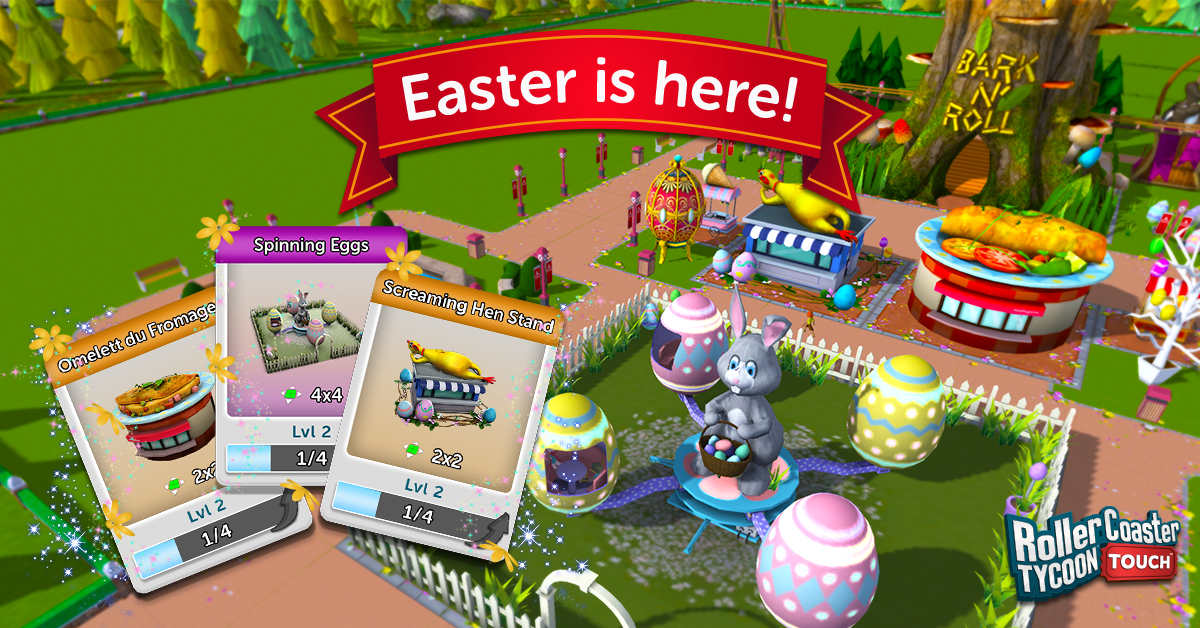 """RollerCoaster Tycoon Touch"""" Kicks Spring Into High Gear With"""