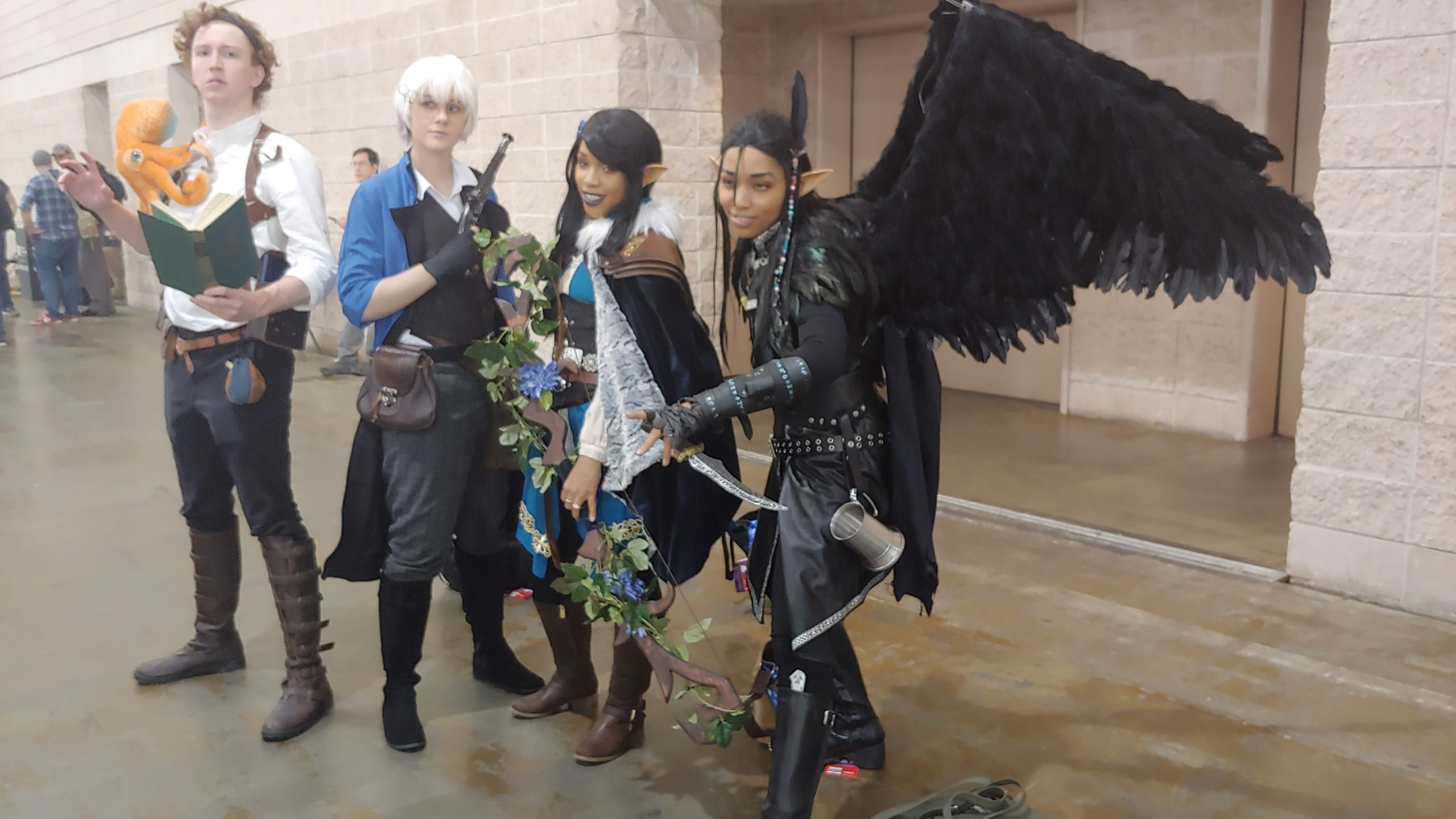 Some awesome cosplayers we met! Just a few of many!